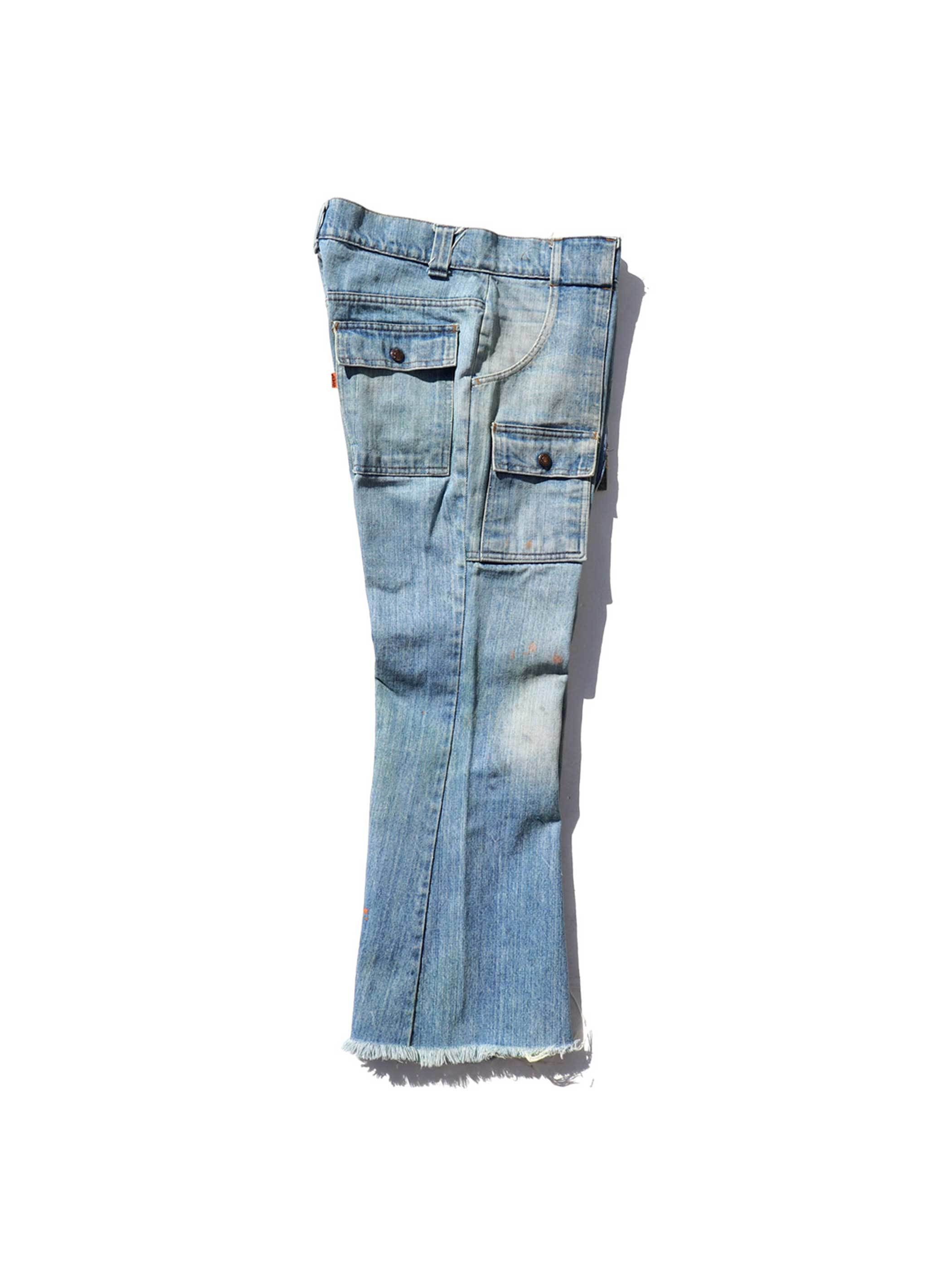 70's LEVI'S 676 Cut Off Bush Denim Pants [W33]