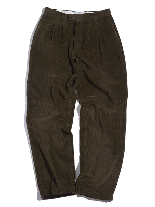 "1990s ""TRADITIONAL CLOTHING"" wide wale corduroy pants -KHAKI-"