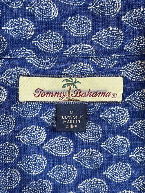 Tommy Bahama allover patterned silk S/S shirt