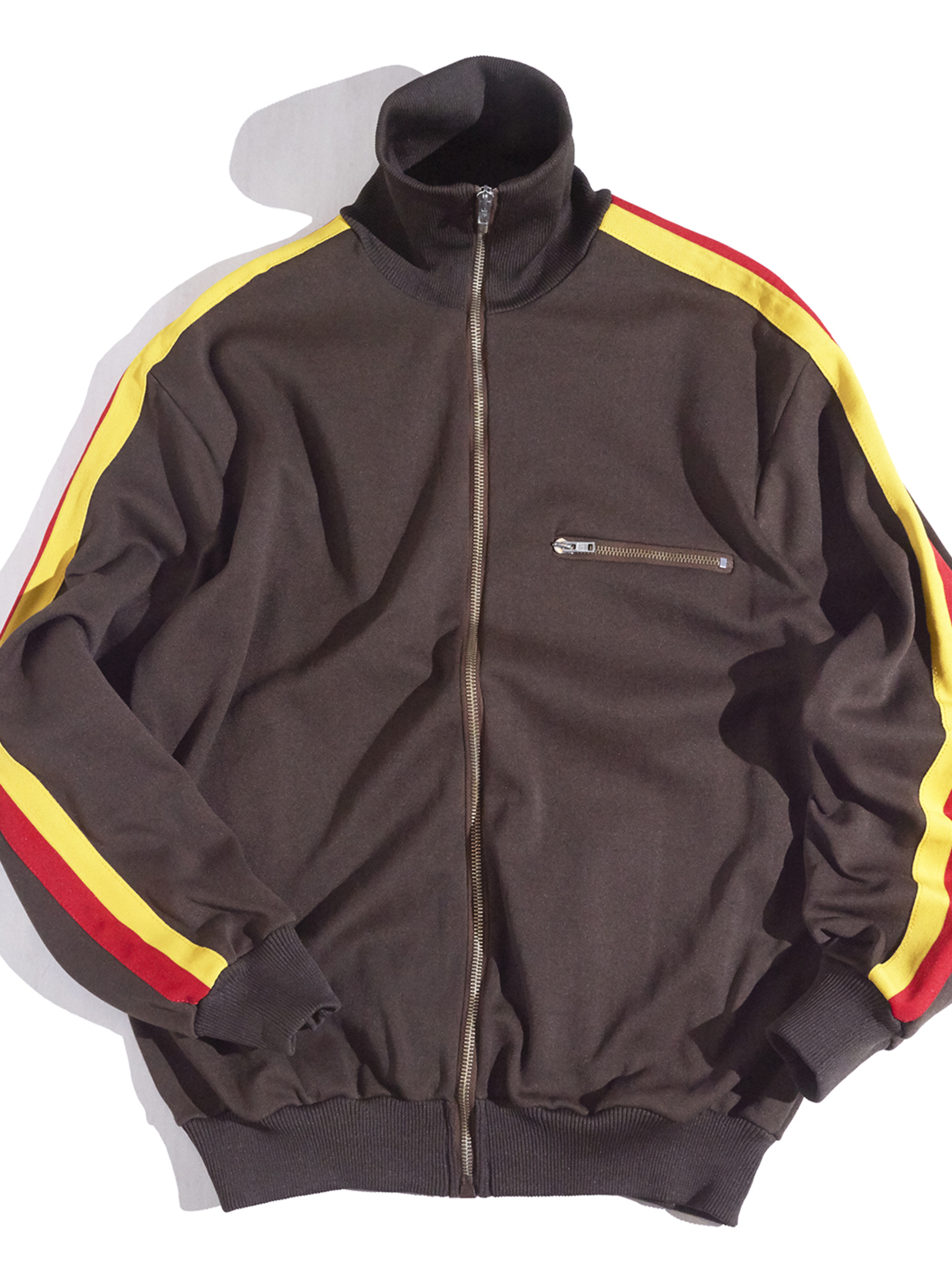"""1970s """"unknown"""" track jacket -BROWN-"""