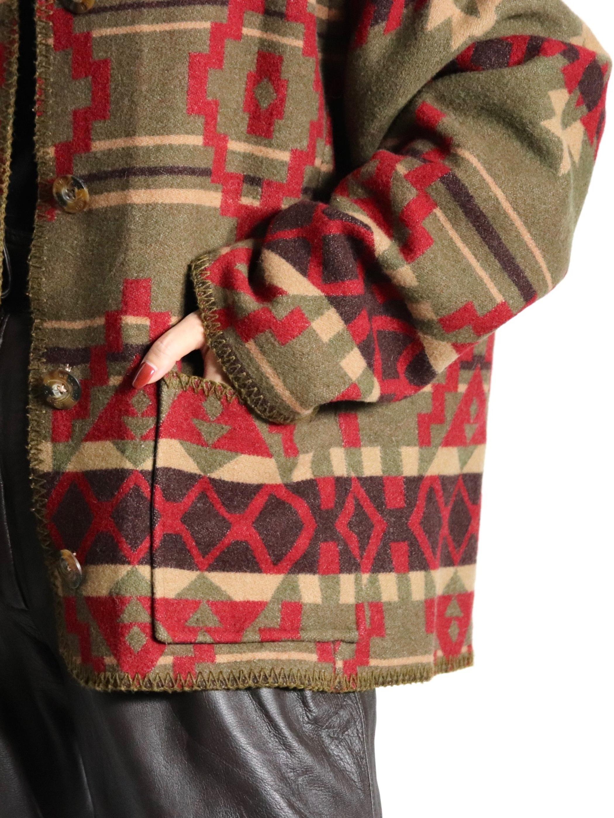 WOOLRICH native pattern jaket