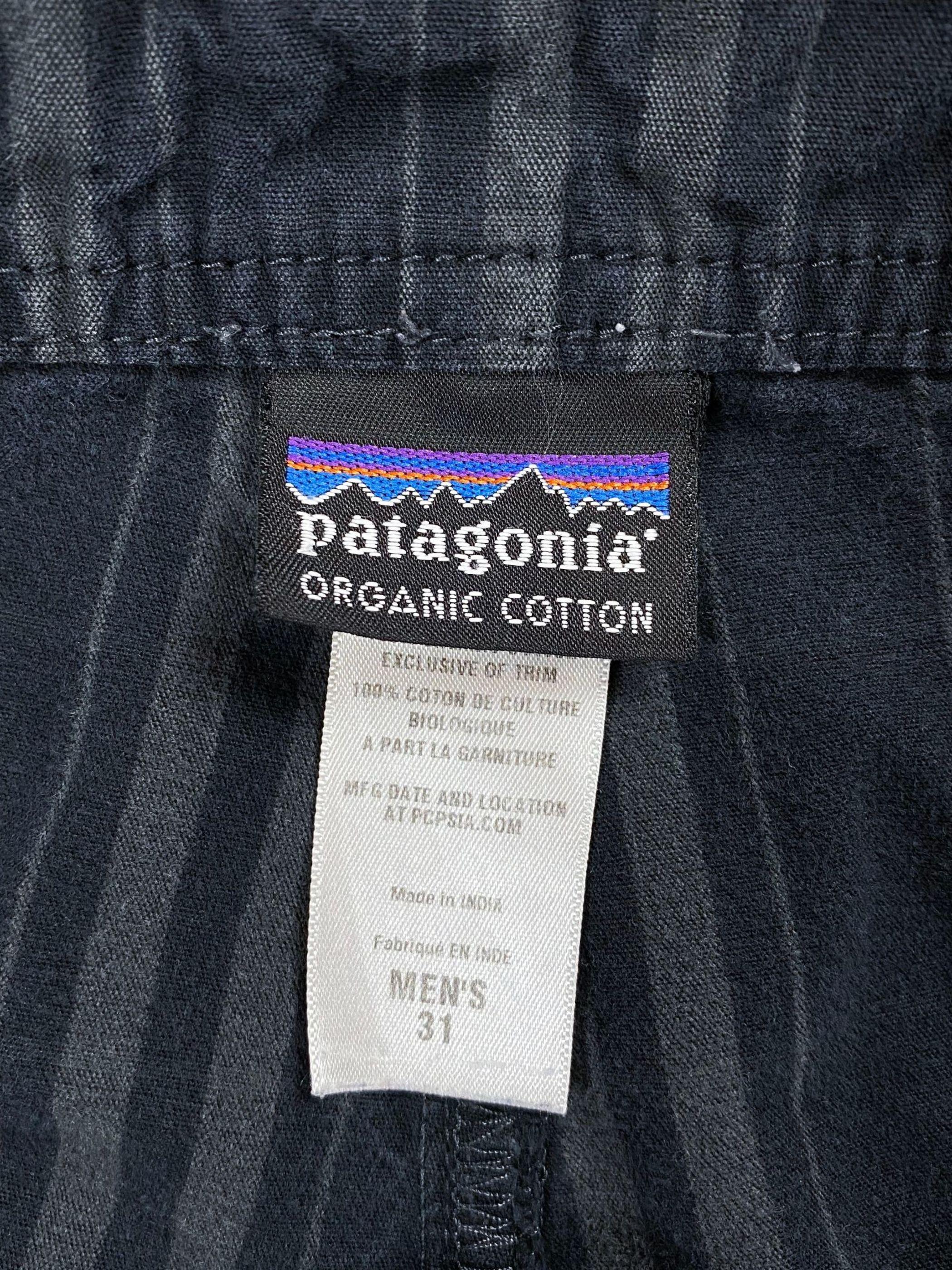 patagonia check cargo short pants