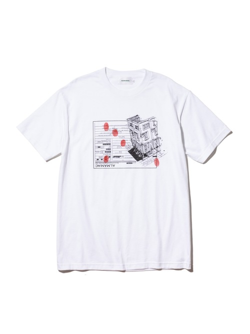 T-shirts [M~XXL] ALMANIAC / 55 BANK IMMIGRATION White