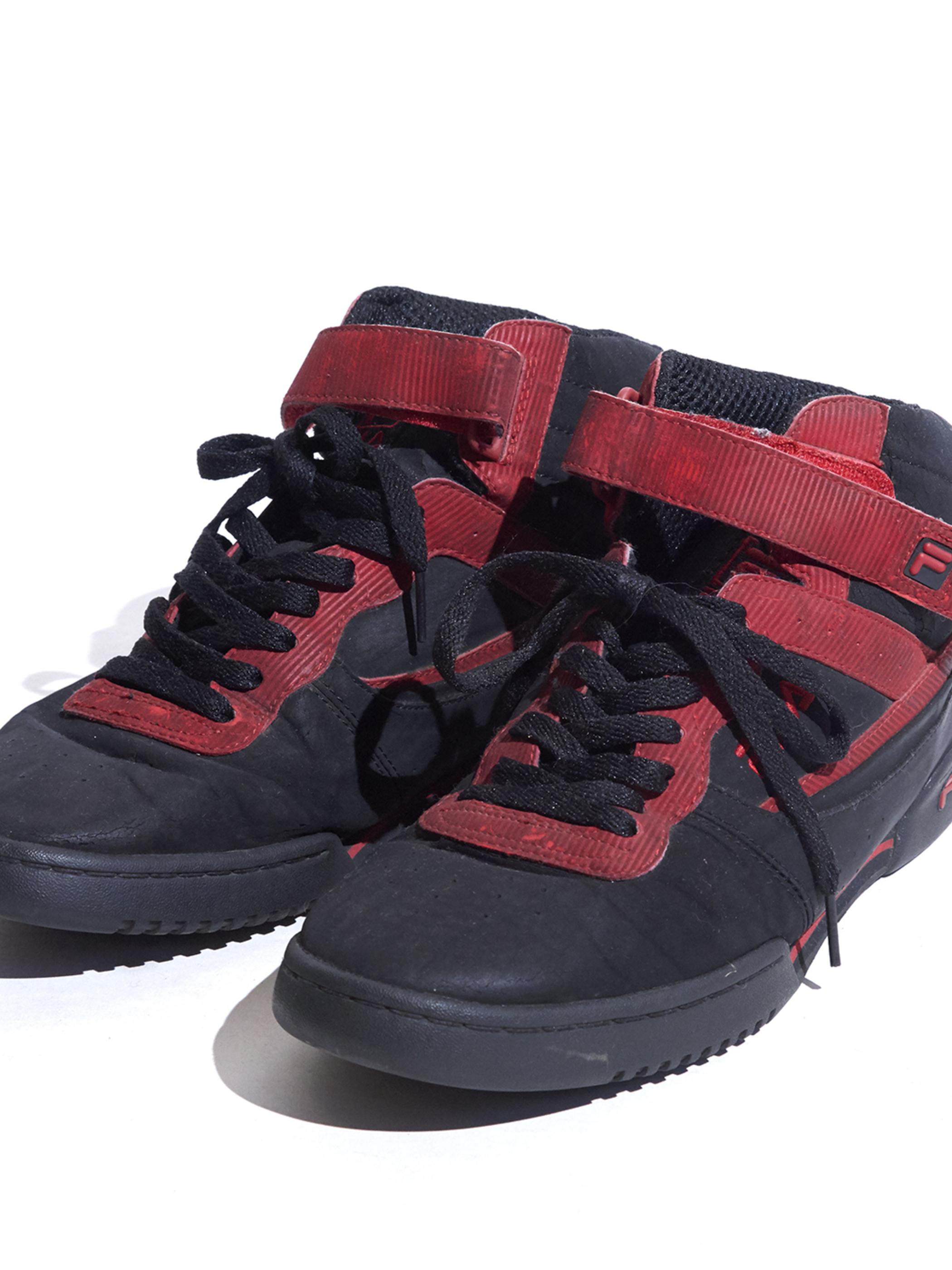 """1990s """"FILA"""" FX-100 sneaker -BLACK×RED-"""