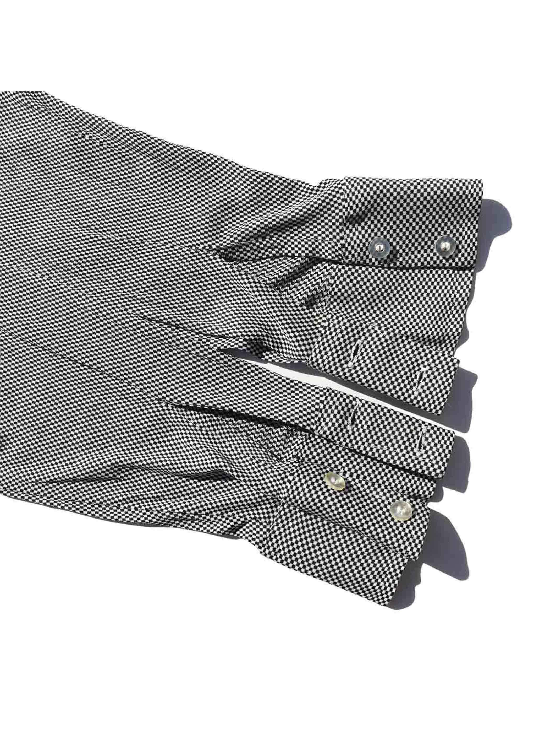 70's MONTICELLO マイクロチェッカーフラッグパターン L/Sシャツ [16-1/2]
