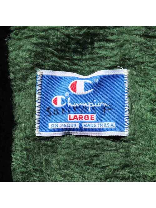 90's CHAMPION USA製 ボアライナー ナイロンコーチジャケット [L]