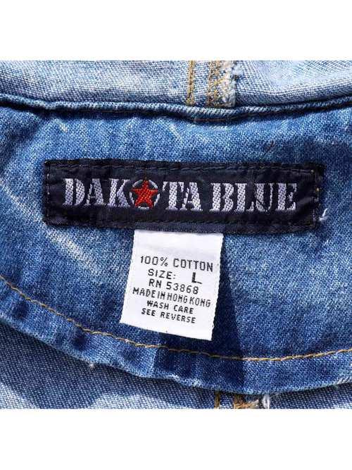 80's~ DAKOTA BULE ケミカルウォッシュ デニムコート [L]