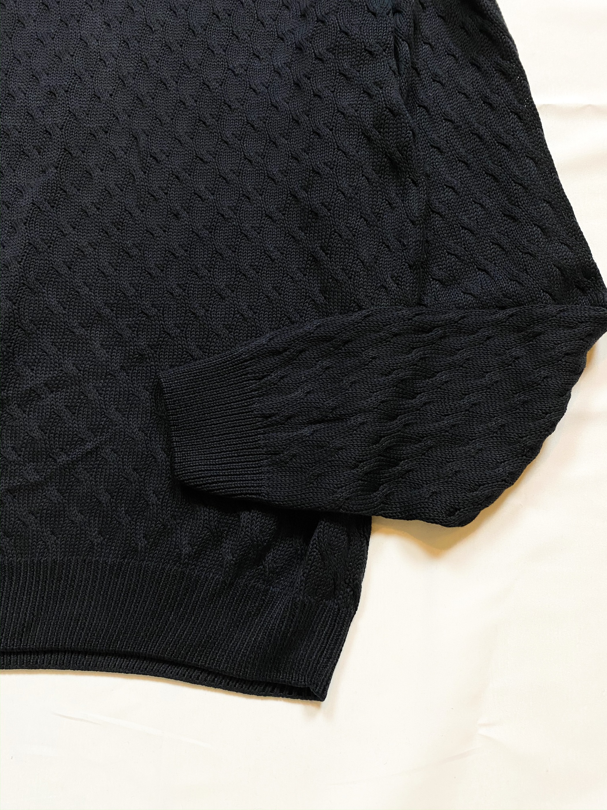SAKS FIFTH AVENUE silk cable knit sweater