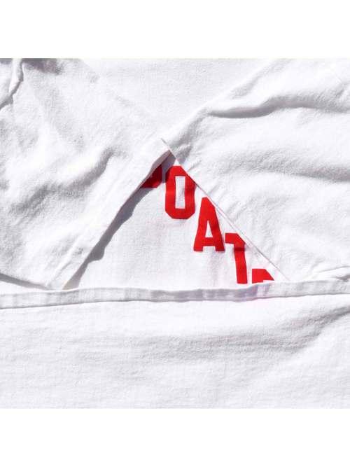 "80's CHAMPION ""SHOWBOATERS / BIG MAC 12"" Flocky Print T-Shirt [L]"