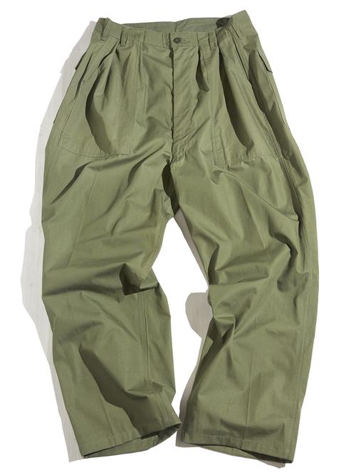 "NOS 1960s ""US ARMY"" cotton poplin custom baker pants -OLIVE-"