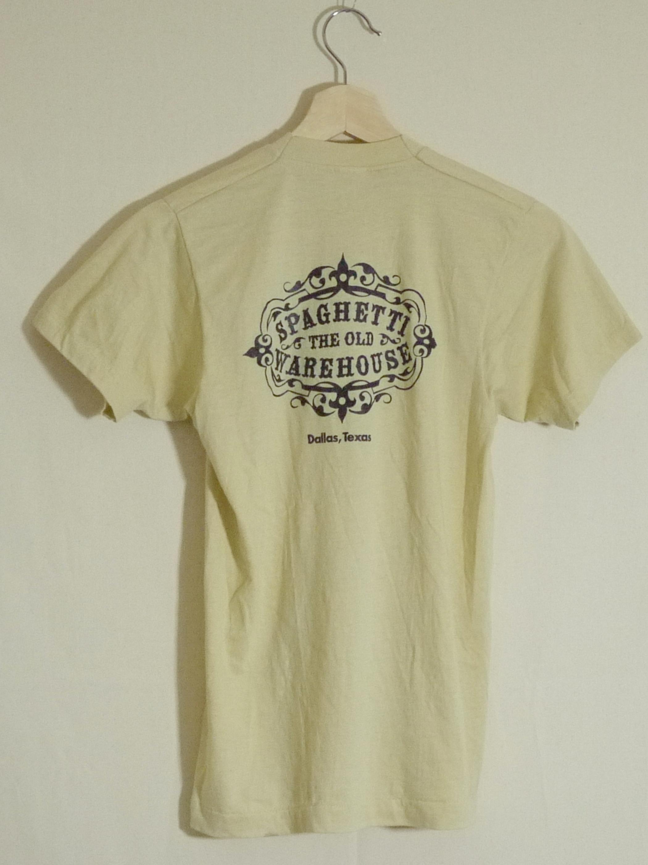 "SCREEN STARS 1980's T-Shirts SizeM ""SPAGHETTI WAREHOUSE"""