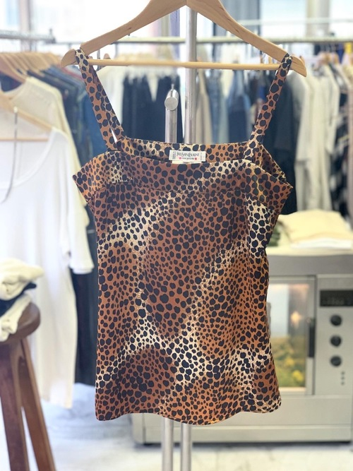 Old Yves Saint Laurent leopard rayon camisole made in France