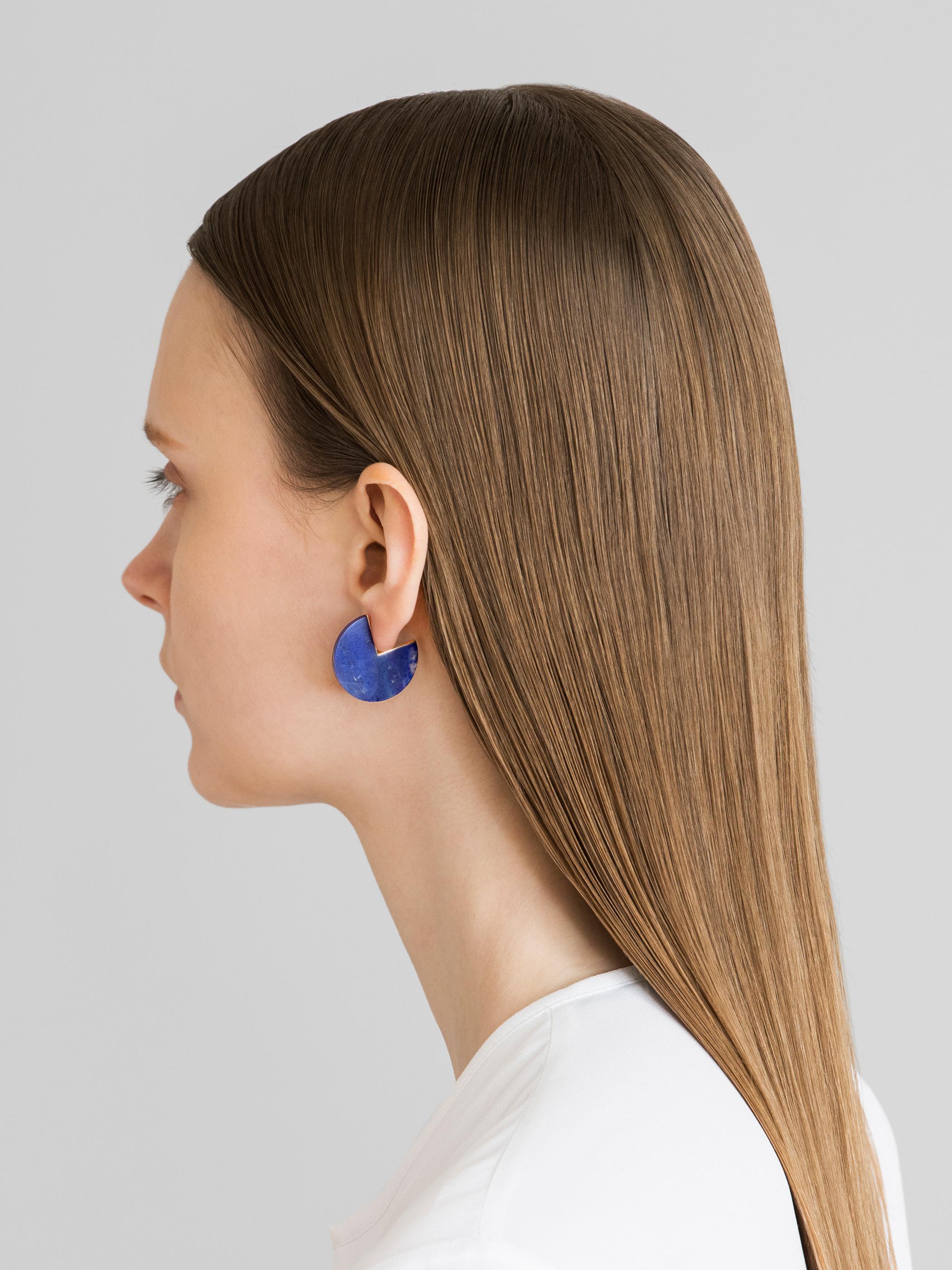 SLICE EARRING  Lapis lazuli