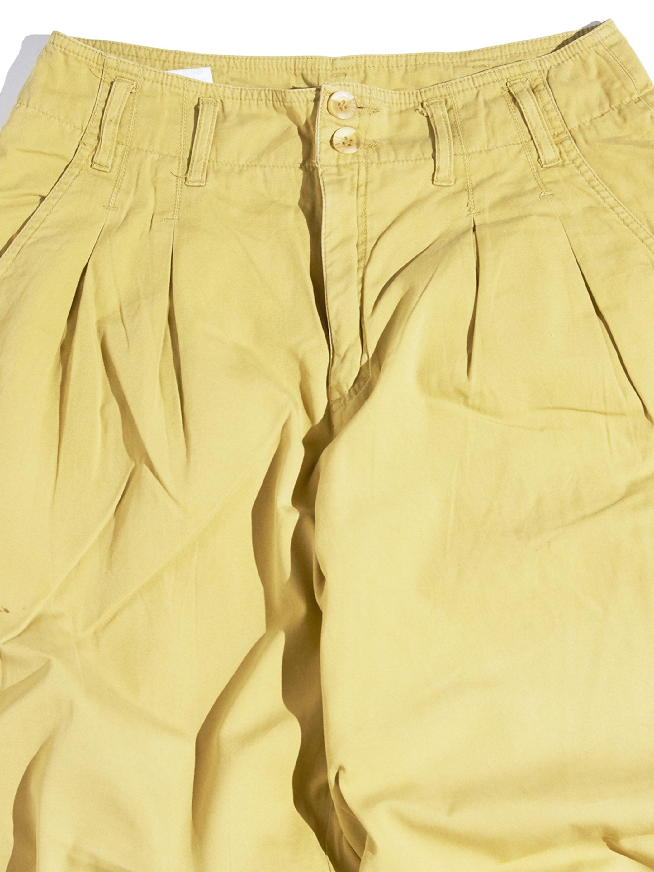 "1980s ""ESPRIT"" cotton 2tuck pants -MUSTARD-"
