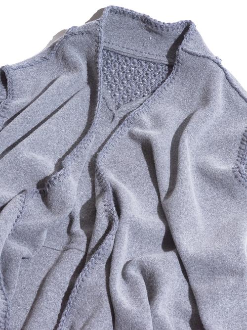 "1980s ""unknown"" reversible wool sleeveless coat -GREY-"