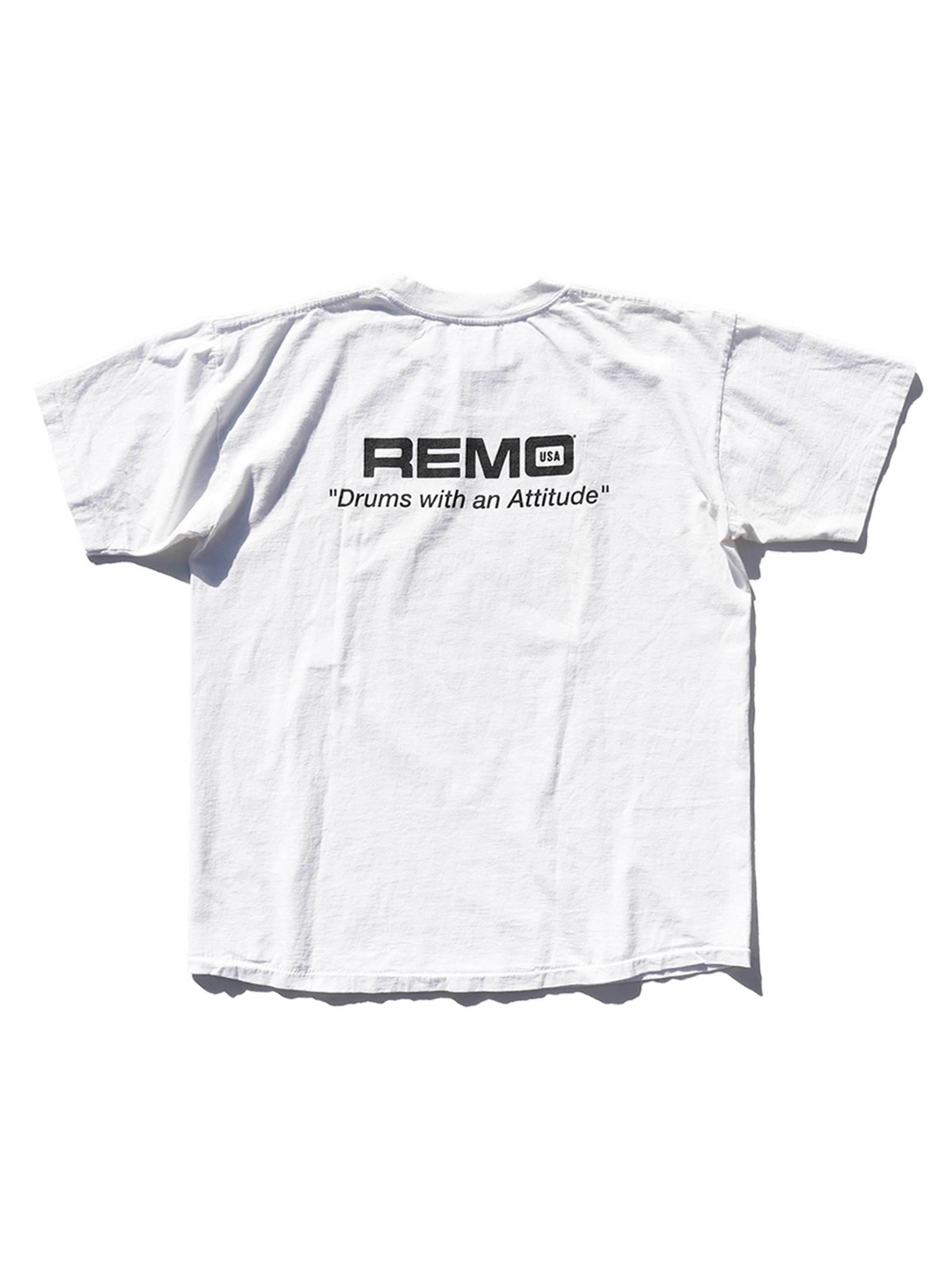 "90's REMO ""DRUMS WITH AN ATTITUDE"" T-Shirt [XL]"