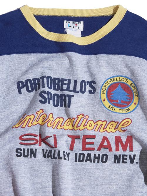 "1980s ""PORTOBELLO'S SPORT"" print sweat -CRAZY-"