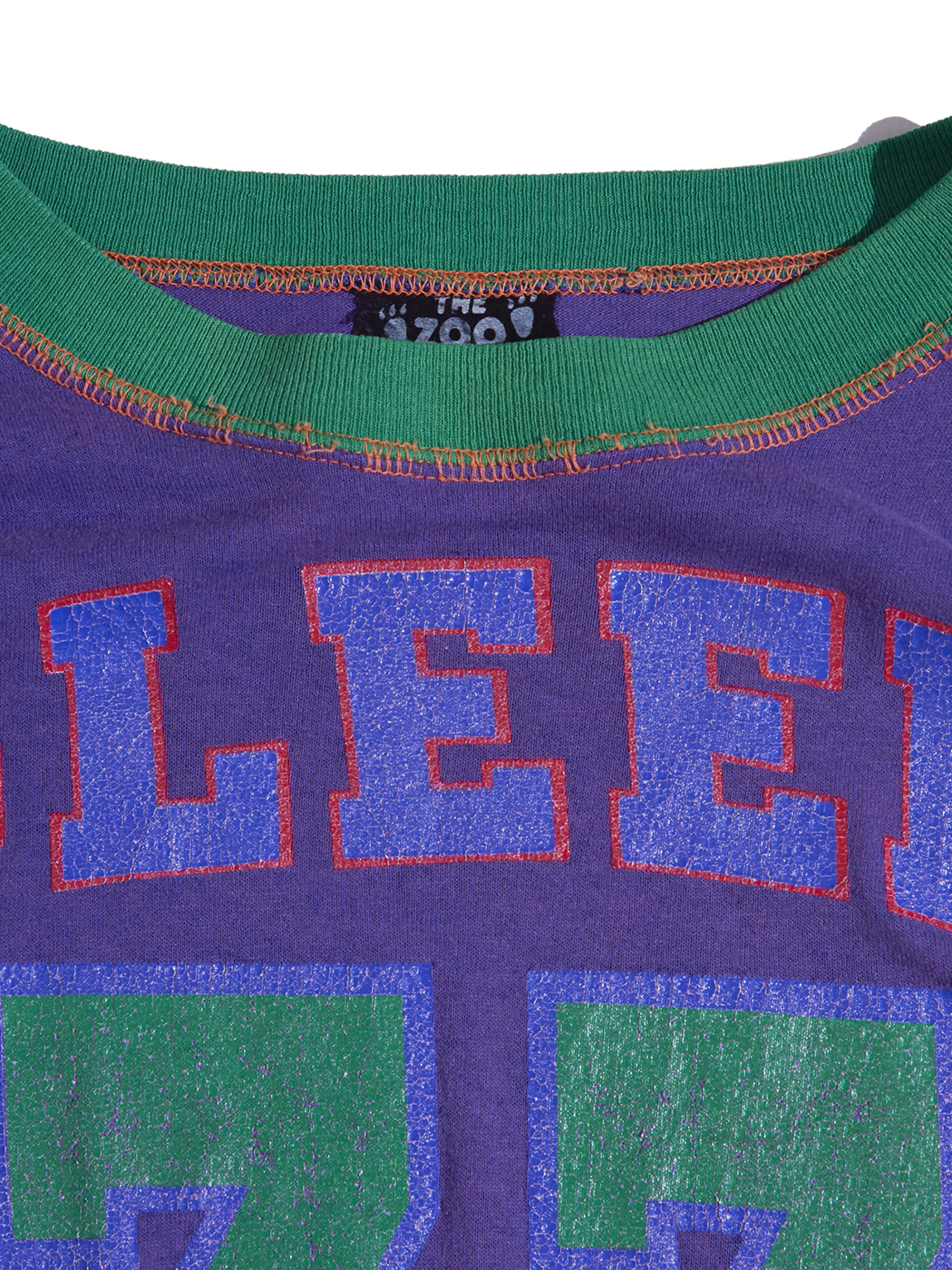 "1980s ""unknown"" crazy pattern print tee -PURPLE/ORANGE-"