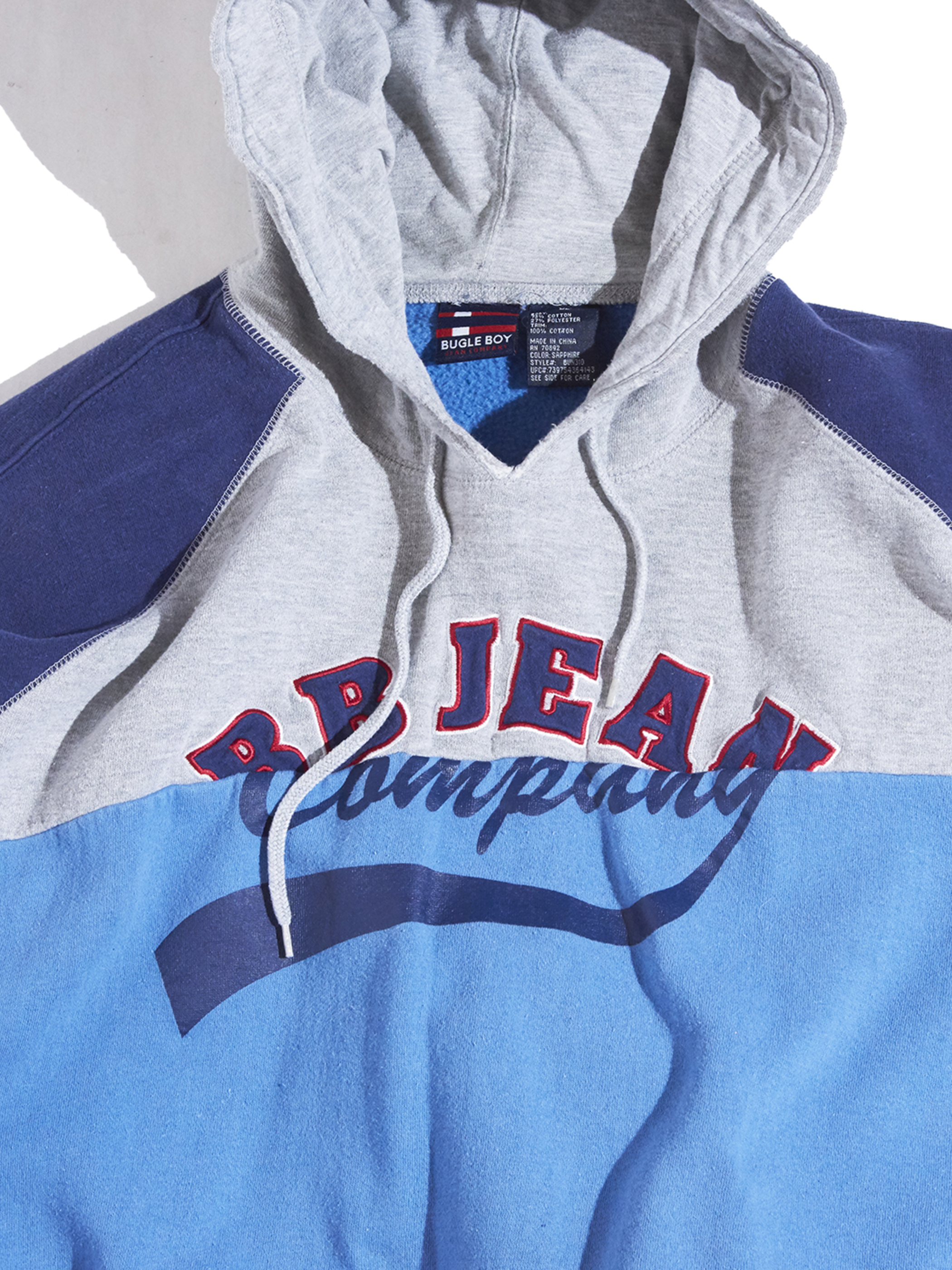 """1990s """"sweat hoodie vest -GREY-"""