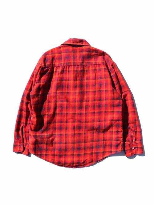 70's CAMPUS オープンカラー プリントフランネルシャツ [15-1/2]