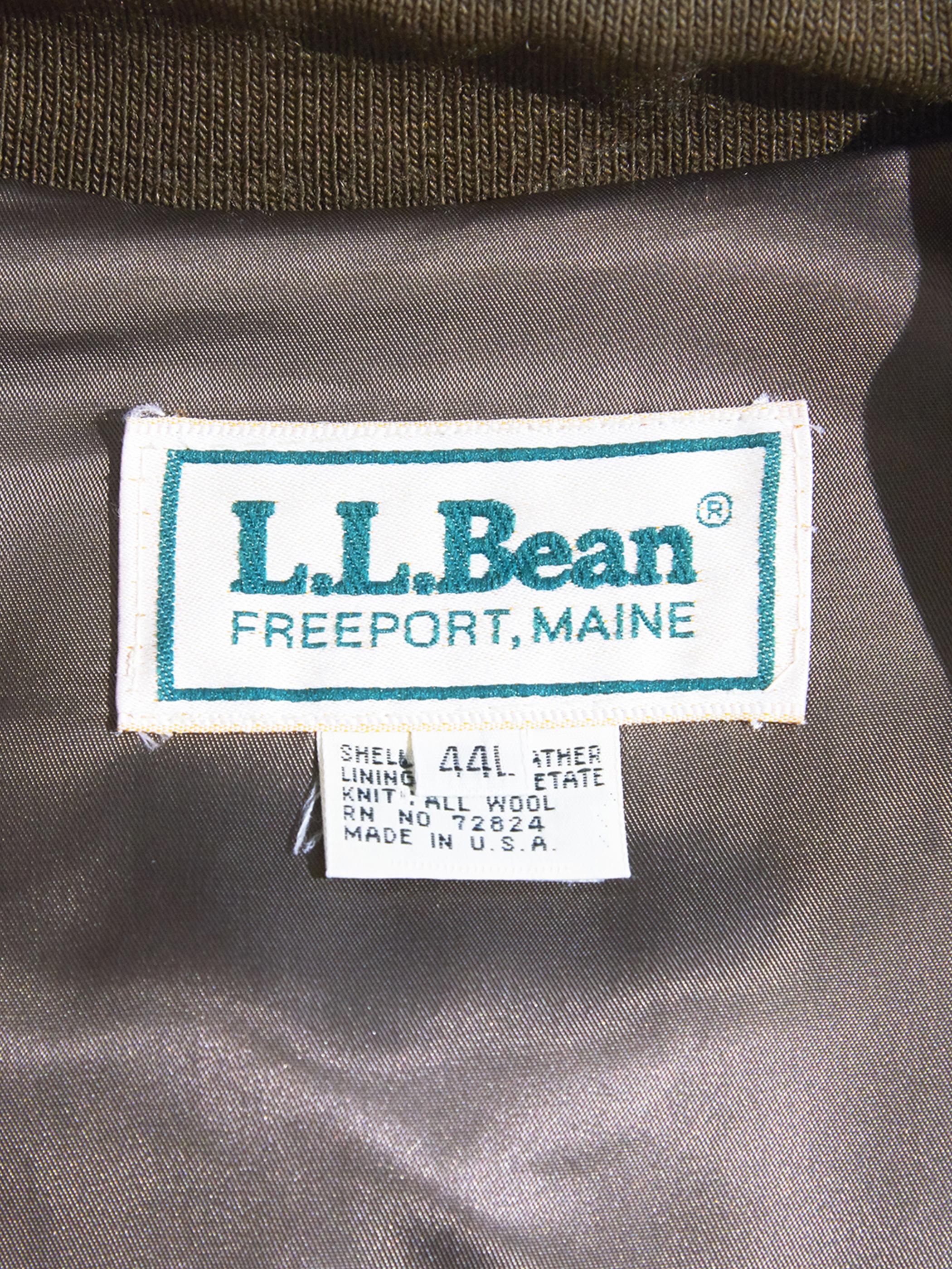 """1980s """"L.L.Bean"""" suede harrington jacket -BROWN-"""