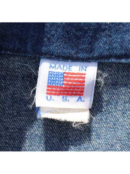 70's~ UNKNOWN USA製 レースアップ デニムウエスタンシャツ [M]