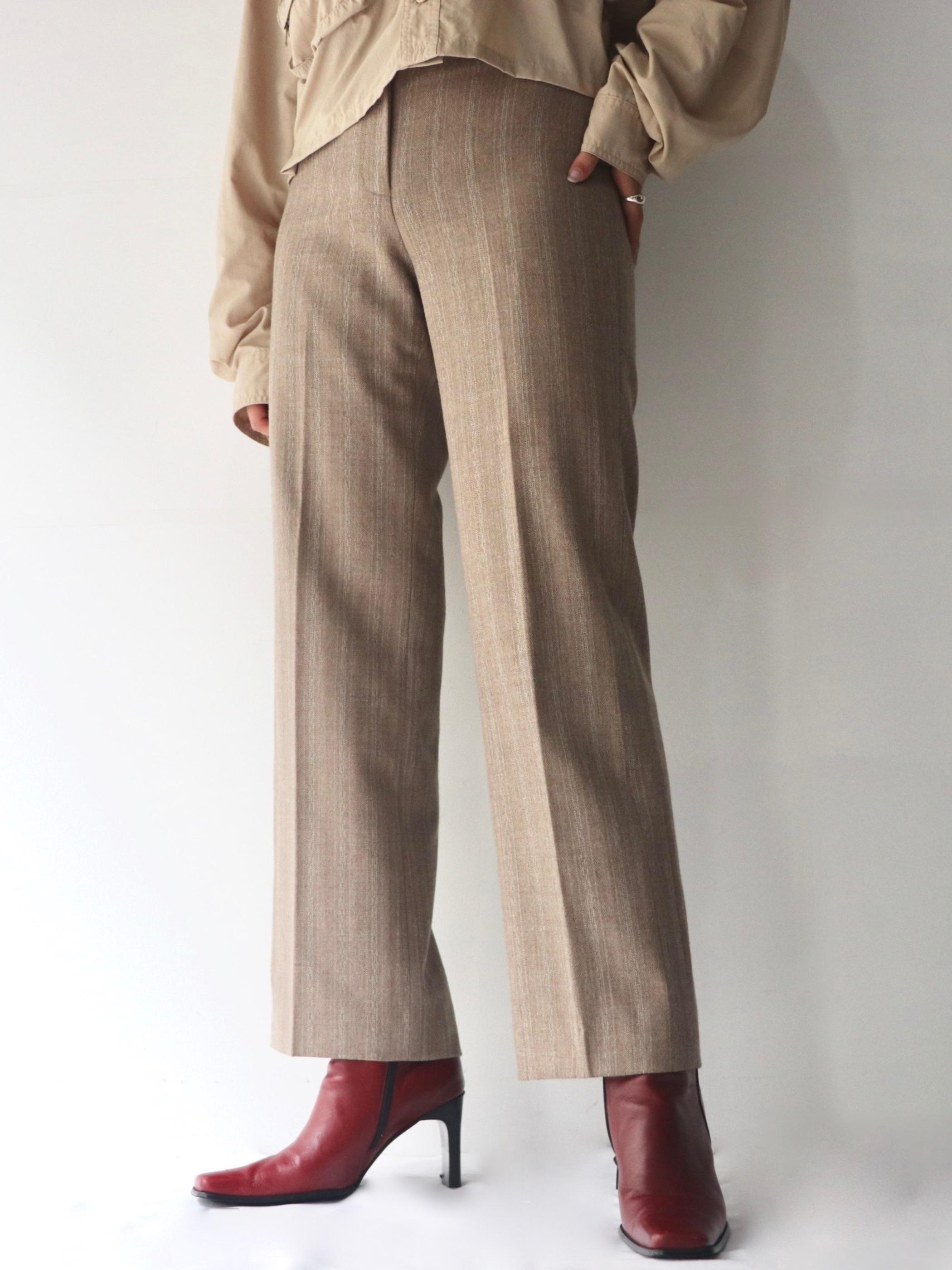 Wool straight pants
