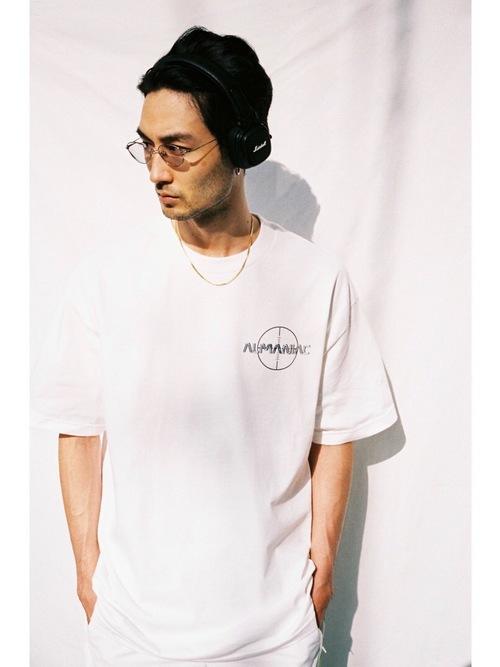 T-shirts [S~XXL] ALMANIAC / TARGET LOGO White