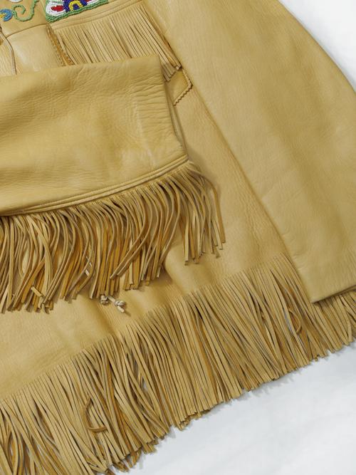 1960-70's Deer Skin Fringed South Western Leather Jacket