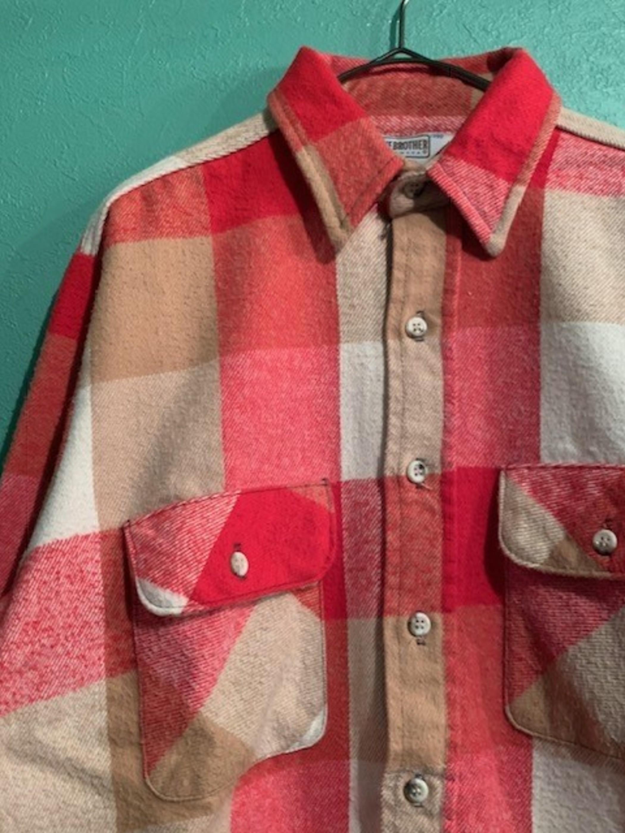70~80s FIVE BROTHER ヘビーネルシャツ