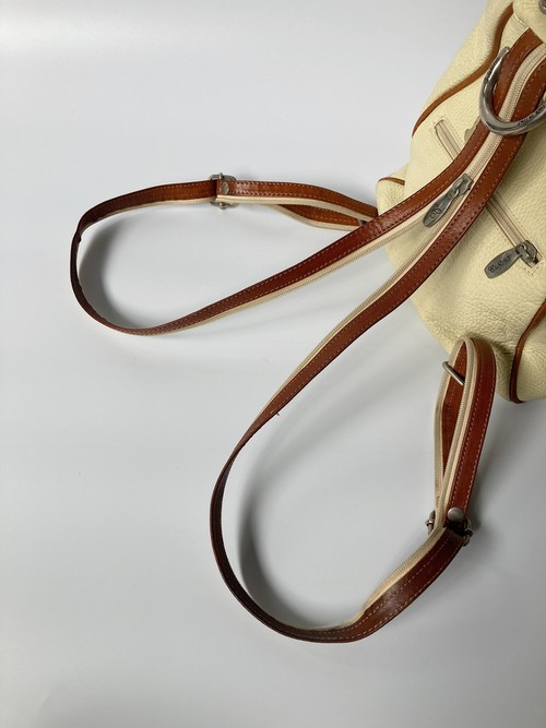 2way leather back pack