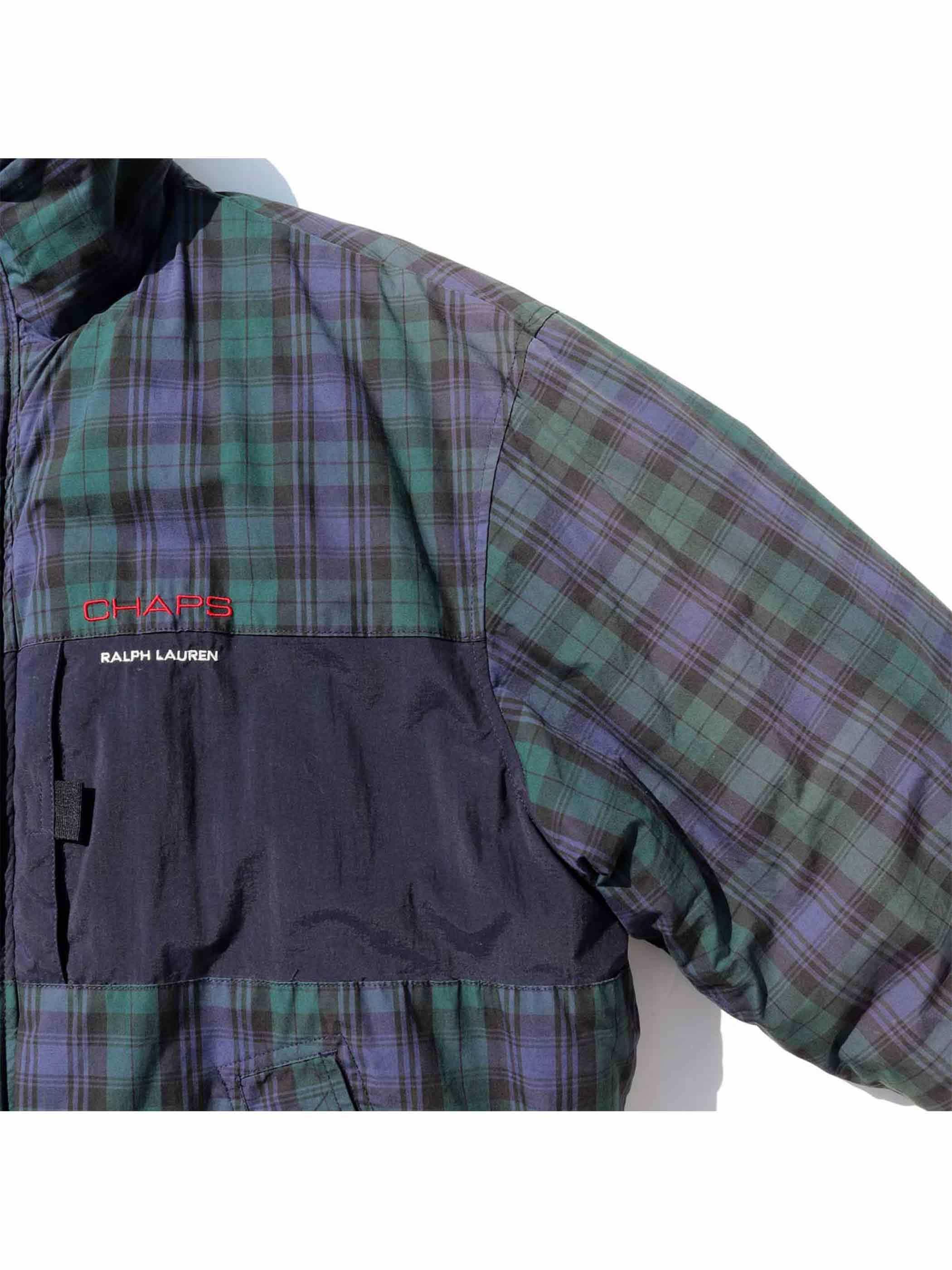 90's CHAPS RALPH LAUREN ブラックウォッチ パディングジャケット [M]