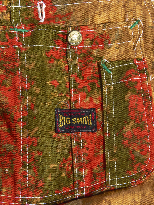 "1960s ""BIG SMITH"" pattern overall -CAMOUFLAGE-"