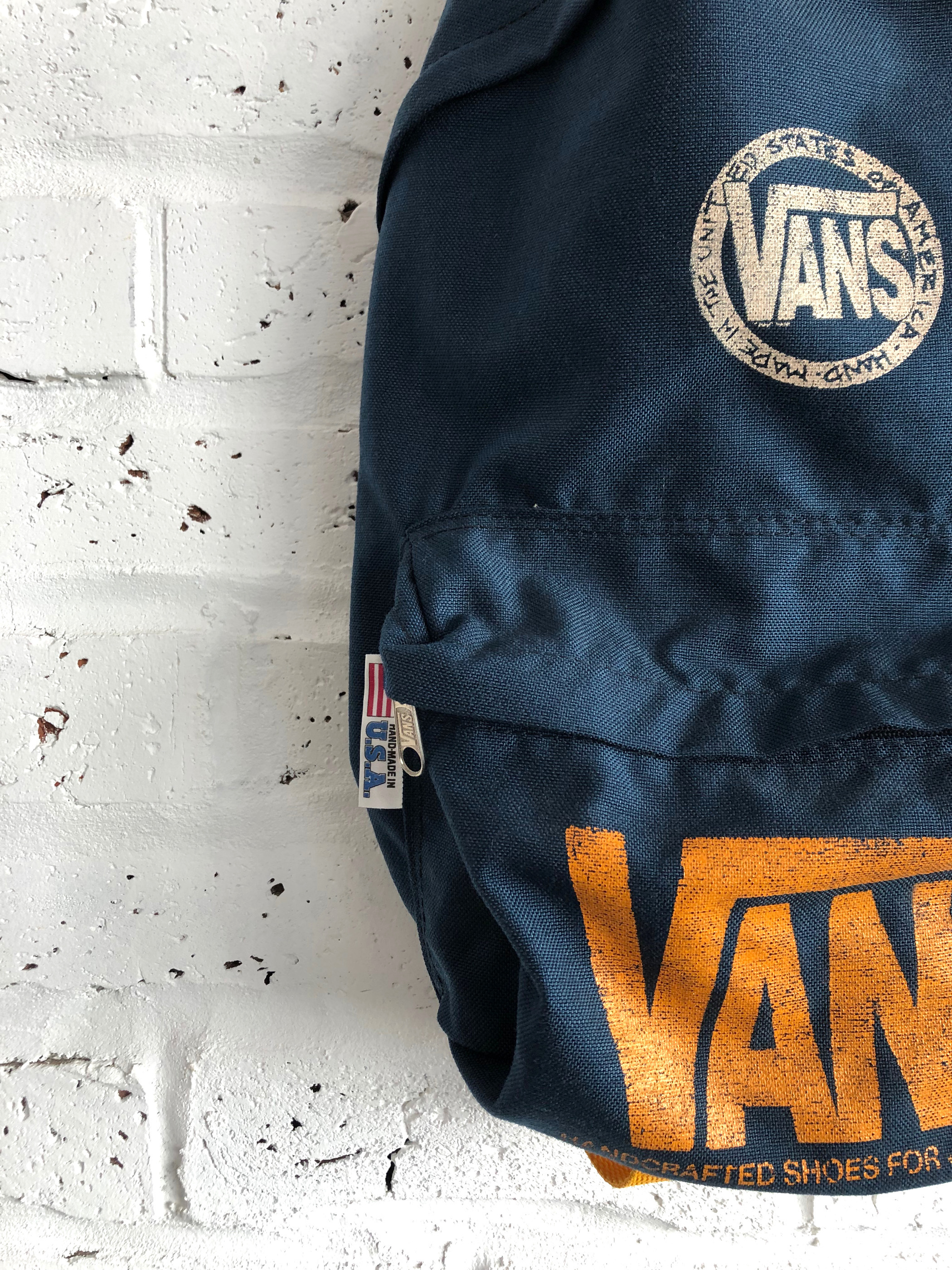 Vintage 90's Made In USA VANS Day Pack