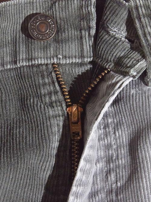 "1980s ""Levi's"" custom mede crazy pettern 519 corduroy pants #11"