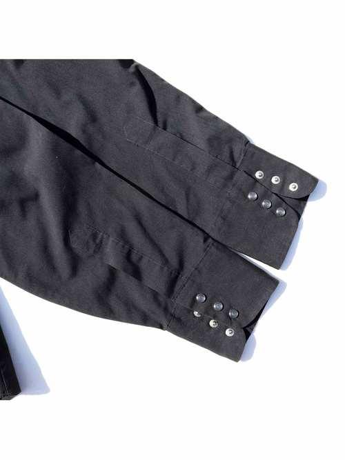 70's LEVI'S ブラック コットンウエスタンシャツ [M]