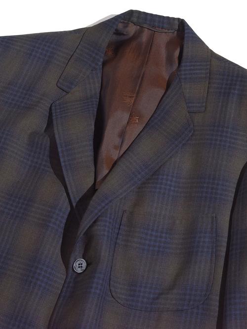 "1960s ""Field Standard"" check tailored jacket -KHAKI-"