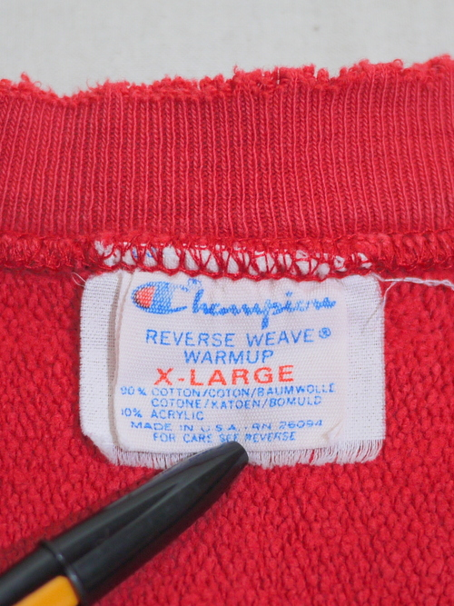 """Champion 1980's REVERSE WEAVE SizeXL """"Red"""""""