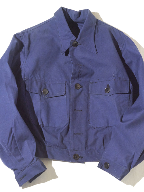 "NOS 1960s ""French work"" short length work jacket -INK BLUE- <SALE¥15000→¥12000>"