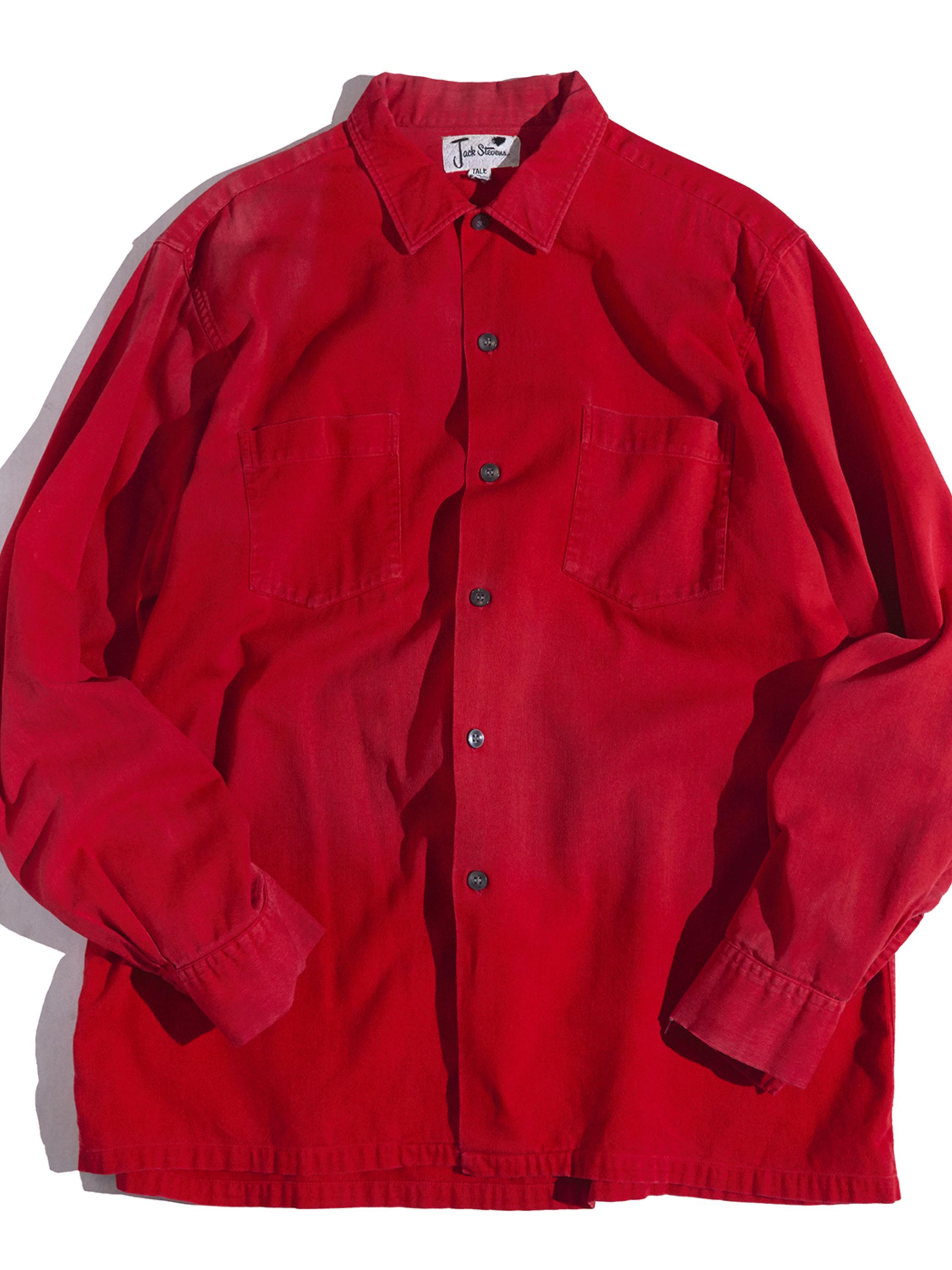 """1960s """"Jack steuern"""" pique shirt -RED-"""
