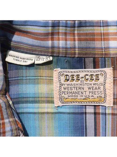 70's DEE-CEE マドラスチェック ウエスタンシャツ [15-1/2]