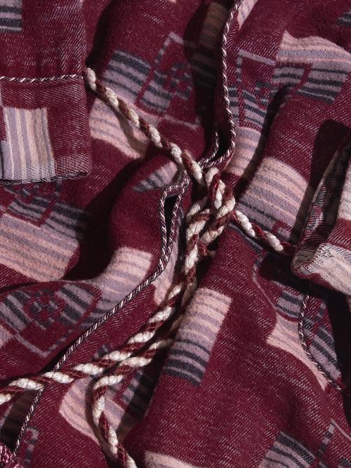 "1940s ""Beacon"" blanket gown -BURGANDY-"