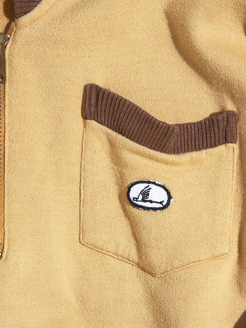 "1960s ""Catalina"" s/s shawl collar half zip sweat -FADE YELLOW- <SALE¥15000→¥12000>"