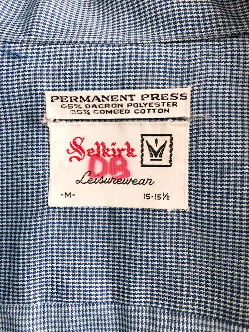 Vintage 50's-60's USA Selkirk Box L/S shirt