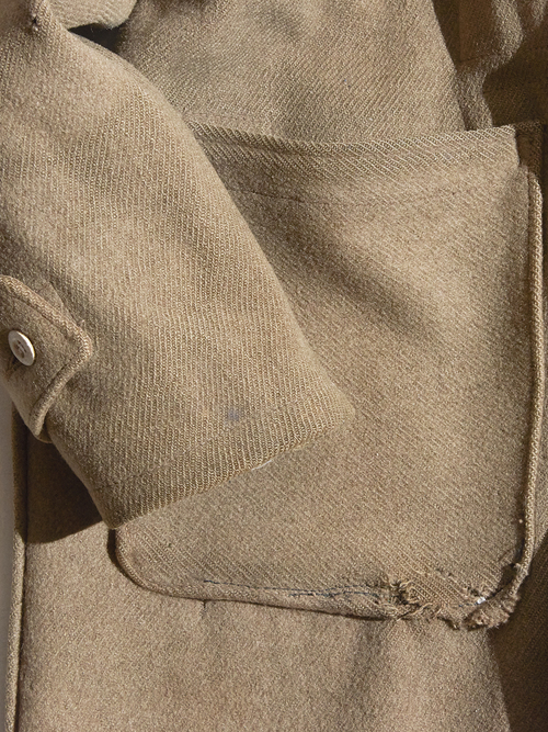 "1940s ""ROYAL NAVY?"" wool coat -KHAKI-"