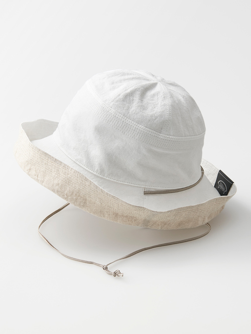 Reversible hat white omote 041 re