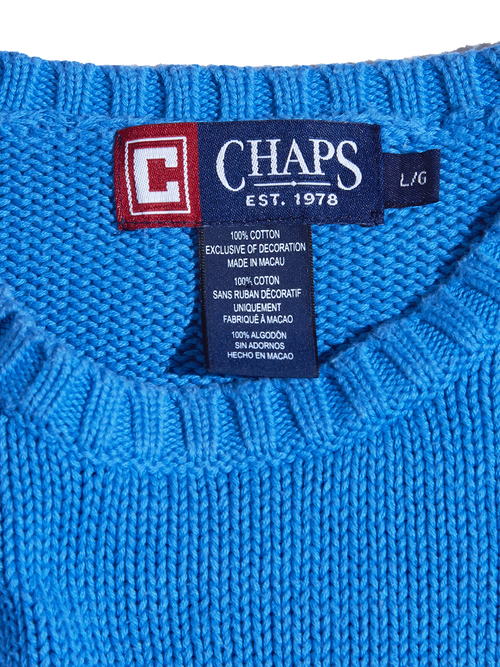 "1990s ""CHAPS RALPH LAUREN"" cotton knit -SAX BLUE-"