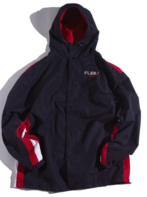 "1990s ""FUBU"" warm up jacket & track pants -BLACK-"