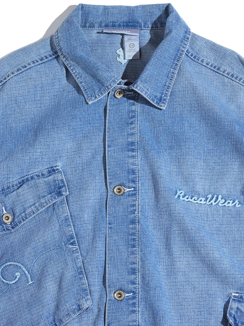 "1990s ""Rocawear"" denim jacket -BLUE-"
