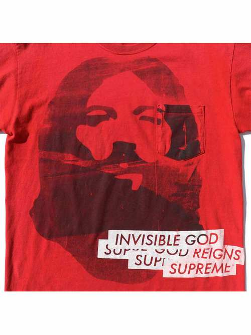 00's INVISIBLE GOD 大判プリント ポケットTシャツ [About L]